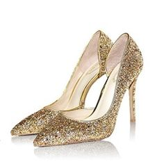 Shoespie Glitter Stiletto Bridal Shoes