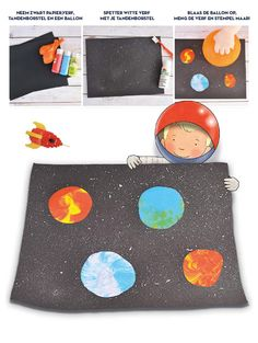 Knutselen met Andre het astronautje? Space Crafts For Kids, Space Preschool, Crafts To Do, Diy For Kids, Space Party, Space Theme, Lessons For Kids, Art Lessons, Space Solar System