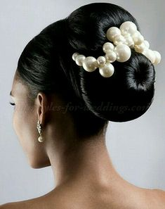 Fabulous, a great way to add pearls to a bun up do