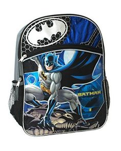 DC Batman 16in Large Big Face School Backpack