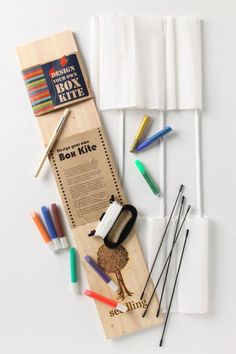 DIY Box Kite from Anthropologie. Sold out! Childrens Bookstore, Gifts For Kids, Great Gifts, Fun Conversation Starters, Box Kite, Cool Calendars, Go Fly A Kite, Arts And Crafts, Diy Crafts