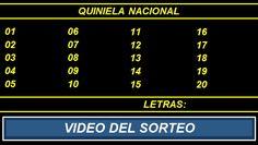 Video Quiniela Nacional Nocturna Lunes 26 de Septiembre de 2016 Pizarra del sorteo desarrollado en el recinto de Loteria Nacional a las 21:00 horas