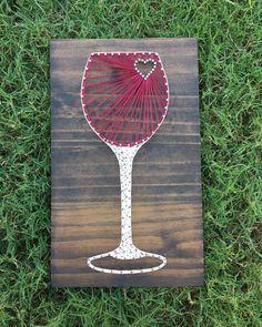 MADE TO ORDER Wine Glass String Art Board by KailsStringArt on Etsy https://www.etsy.com/listing/260109973/made-to-order-wine-glass-string-art