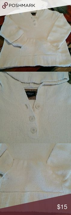 French Terry Hoodie Soft NWOT French Terry Hoodie.  Front three buttons with hand pocket.  Super soft. NWOT  Never worn. Smoke free home Sonoma Other