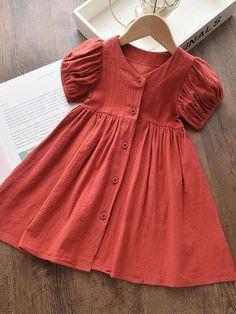 Baby Girl Dress Design, Girls Frock Design, Kids Frocks Design, Baby Girl Dress Patterns, Baby Frocks Designs, Frock Patterns, Girls Dresses Sewing, Stylish Dresses For Girls, Toddler Girl Dresses