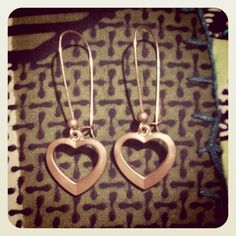 Heart on Your Sleeve Earrings. $9.00, via Etsy.