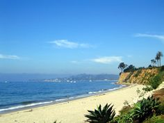 Butterfly Beach in Santa Barbara: This is one of the few west-facing beaches so you can see a sunset over the water! Make sure to include it on your visit to Santa Barbara.