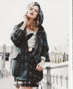 For that first chill in the air.  Parka #119-Grey/Silver Boucle'  9/2014