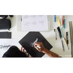 @skillshare X @itsaliving  #howdoyoudothatshading ✌️✔️✒️[http://skl.sh/itsaliving]  #lettering #calligraphy #itsaliving #handmade #letters #skillshare
