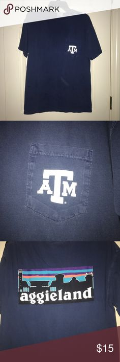 Texas A&M comfort colors shirt Medium navy comfort colors shirt. Aggieland patagonia logo. Bought at A&M warehouse in CSTAT. Texas A&M Tops