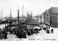 Bergen - Tyskerbryggen i 1880