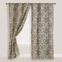 Wild Hibiscus Grommet Curtain