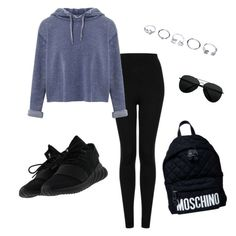 """""""Casual"""" by alexisjoseph-1 ❤ liked on Polyvore featuring Topshop, Miss Selfridge, adidas, GUESS and Moschino"""