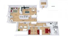 Fra vindfanget er det inngang til kjk., soverom og stue, samt fri sikt til hagen… Floor Plans, Patio, Floor Plan Drawing, House Floor Plans