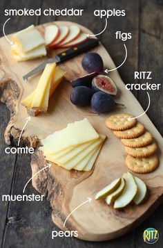 Fall is the perfect season for a picnic in the park! Update your cheese board for autumn with seasonal fruits — pears, apples, figs — and cheeses — Smoked Cheddar, Comte, Rhinette.