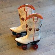 Cowboy Boots Roller Skates! Its like chili dogs.... I like chili and hot dogs not chili dogs same with these shoes separate not together