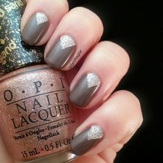 OPI - You don't know jacques and OPI - Silent stars go by. pretty nail art