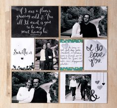 Love this page using Project Life by Stampin' Up! Love Story collection.