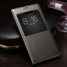 Slim Leather Flip Cover Case For Samsung Galaxy S5 S 5 i9600 Smart Sleep Wake up View Phone Cases For S5 with Waterproof Chip
