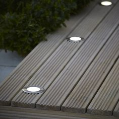Blooma Flax Brushed Silver Effect Mains-Powered Neutral White Led Decking Light Backyard Garden Design, Backyard Landscaping, Garden Exterior Lighting, Solar Path Lights, Garden Fence Panels, Garden Makeover, Deck Lighting, Outdoor Seating Areas, Decks And Porches