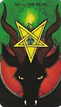 The Devil from the Morgan Greer Tarot deck - links to Tarot Teachings and meaning of the card.