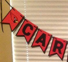 Nfl Arizona Cardinals Banner Birthday Wedding Party Decoration Cardstock Handmde #Unbranded #ArizonaCardinals