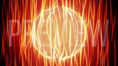 Orange Energy Sphere Looping Background
