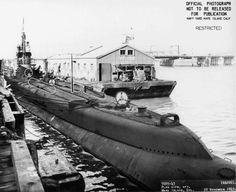 Stern view of USS Gar at Mare Island Naval Shipyard, California, United States, 20 Nov 1943