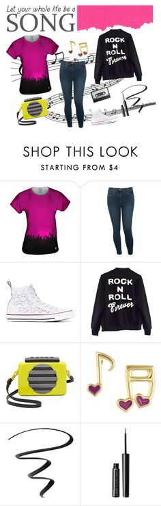 """""""Let Your Whole Life Be a Song"""" by yizzam on Polyvore featuring M&Co, Converse, High Heels Suicide, Marc by Marc Jacobs, Victoria Townsend, L'Oréal Paris, NYX, ootd, SpringStyle and OOTW"""