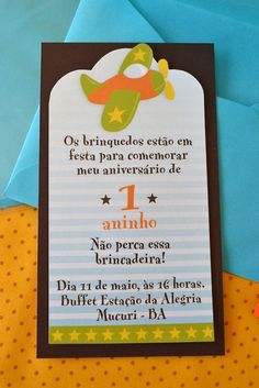 "Convite para festa no tema "" Brinquedos"" com tag personalizada. Fazemos qualquer tema. Ideas Para Fiestas, Writing Paper, Birthday Parties, Invitations, Frame, Party, Lucca, Gabriel, Party Labels"