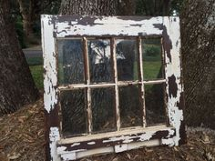 Cleaned this old window up, sanded and sealed.  Black and white photos would look great in this.