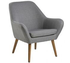 Boyd hvilestol - lys grå - Corsica stof lysegrå 40, ben træ eg, oliebehandlet