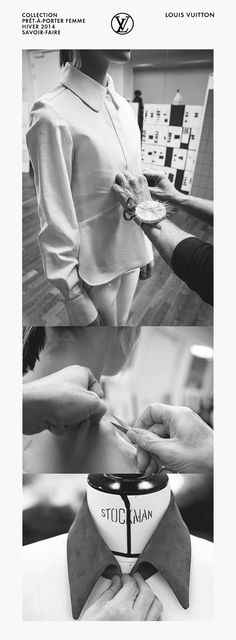 Inside the fashion studio - the making of a shirt; fashion atelier; fashion design behind the scenes // Louis Vuitton