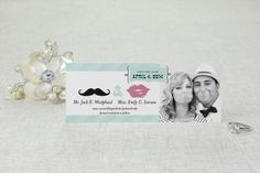 Mustache You to Wed - Save the Date Card by MagnetStreet