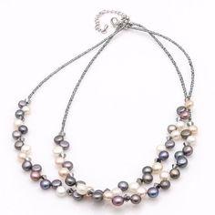 Lia Sophia Cultured Pearl Necklace