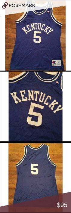 e1832c465e56a Champion Kentucky Wildcats Basketball Jersey Pre-loved Champion Shirts Tees  - Short Sleeve