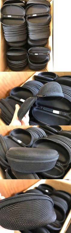 Eyeglass Cases: Wholesale Lot Bulk Black Qty 100 Sunglasses Hard Case Zipper - Fast Usa Shipping BUY IT NOW ONLY: $75.0
