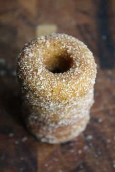 Petite Pumpkin Spice Donuts - Blue-Eyed Bakers - Blue Eyed Bakers