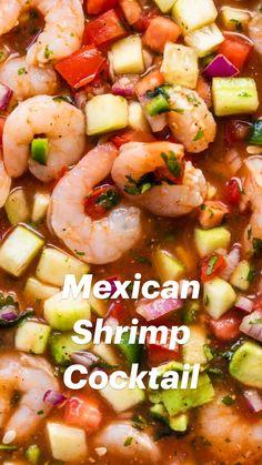 Shrimp Recipes For Dinner, Shrimp Recipes Easy, Seafood Recipes, Appetizer Recipes, Cooking Recipes, Healthy Recipes, Mexican Appetizers, Shrimp Appetizers, Easy Mexican Food Recipes