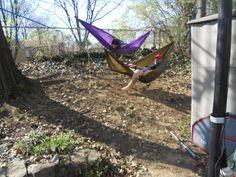Bunk beds hammock style.