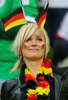 Now that is a German Soccer fan!!!