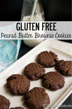 Not sure about baking gluten free? This is a winner! Try this amazing Gluten Free Peanut Butter Brownie Cookies Recipe