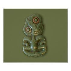 Shop Maori Hei-Tiki Poster created by SolPacifico. Stone Sculpture, Sculpture Art, Tiki Art, Tiki Tiki, Nz Art, Nature Spirits, Maori Art, Tiki Room, Custom Posters