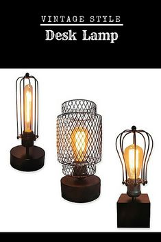The Vintage Accents Lamp Collection makes lighting up a room easy. The vintage bulb adds funky style, along with the braided cord. This lamp is perfect for any living or bedroom. #shopping #ad #shoponline #rustic #industrial #lamp #light #rusticdecor #decor #homedecor