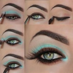 JP~ Stunning blue and brown-although I might not use the brown so thickly and maybe not on the bottom lash line.