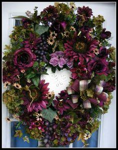 Wreaths, pretty in purple