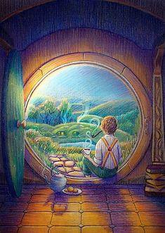 'Tolkien Tea Time' Poster by illustore Jrr Tolkien, Hobbit Art, The Hobbit, Legolas, Lotr, Middle Earth, Lord Of The Rings, Fantasy Art, Hobbit Tattoo