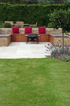 Garden Design London and South East, york stone terraced garden in tunbridge wells, Kent