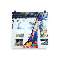 Artistic Giraffe Photo paper poster