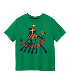 Take a look at this Green Grass Viking Tee - Toddler & Boys by Hanna Andersson on #zulily today!